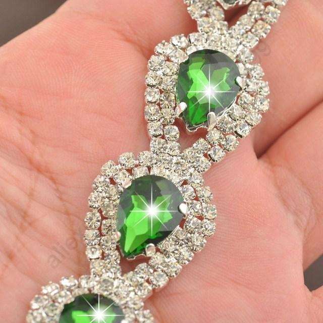 JEXXI Luxury Wedding Woman Jewelry 925 Sterling Silver Shiny Water Drop SWA Element Austrian Crystal Drop Bracelets 9 Colors