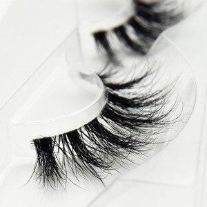 Image 4 - Visofree Mink Lashes 3D Mink Eyelashes Invisible Band Natural Black Mink False Eyelash Full Strip cilios posticos Reusable F41