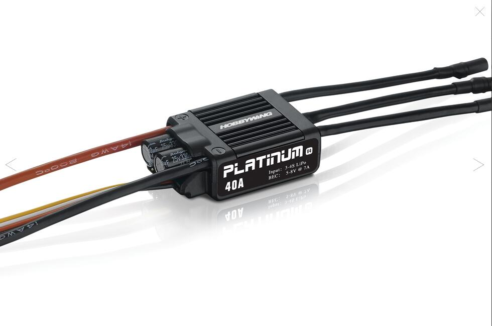 1pc Original Hobbywing Platinum 40A V4 Brushless Electronic Speed Controller ESC for RC Drone Heli FPV Multi-Rotor