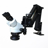 Professional 7 45x Industry binocular stereo Microscope Universal bracket Big stretch Stand Holder for jewelry /PCB repairing