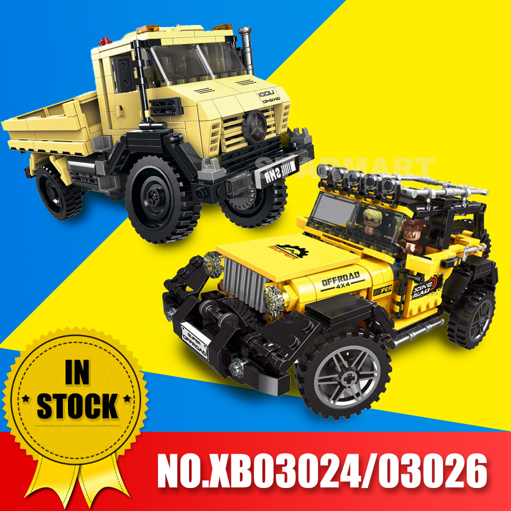 XingBao Toy Model Super Land Rover Set Gift Building Blocks Military Kids