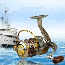 Exclusivo Calidad Metal Spinning Pesca Carrete 10 Rodamientos EF1000 2000 3000 4000 5000 6000 7000 Line Winder Velocidad Ratio 5.1: 1