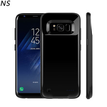 NS For Samsung Galaxy S8 Battery Case 4200mAh external battery Charger Power Case For S8+ 5200mAh back cover with LED Indicator