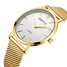 2016 Mens Relojes de Marca de Lujo de Reloj de Cuarzo de Acero Inoxidable Súper Delgado Business Casual Reloj Reloj A Prueba de agua de Alta Calidad