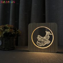 3D Airplane LED Table Night Light Warm Color Wooden Lamp Baby Bedroom Decoration for Christmas