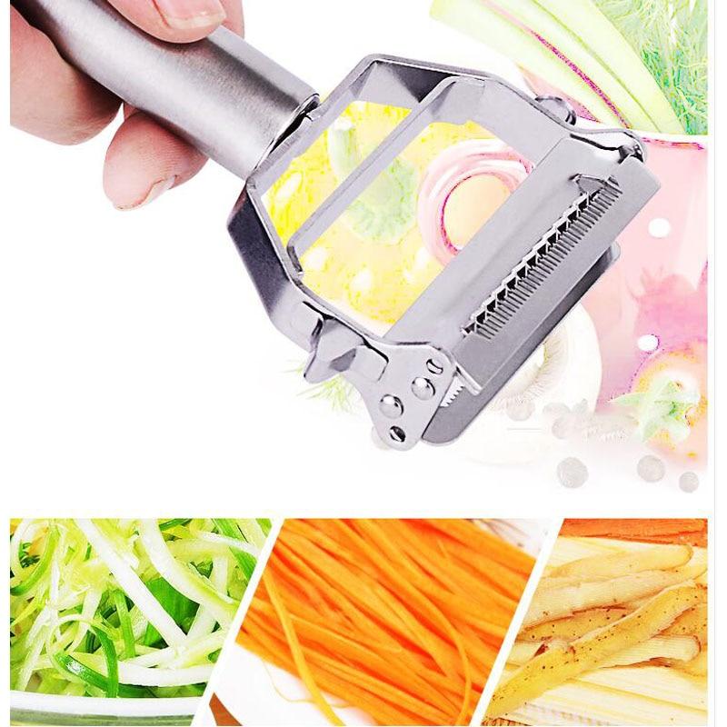 多機能ステンレス鋼おろし器ジャガイモニンジンスライサー野菜おろし金キッチンアクセサリーみじん切り剥がしナイフ