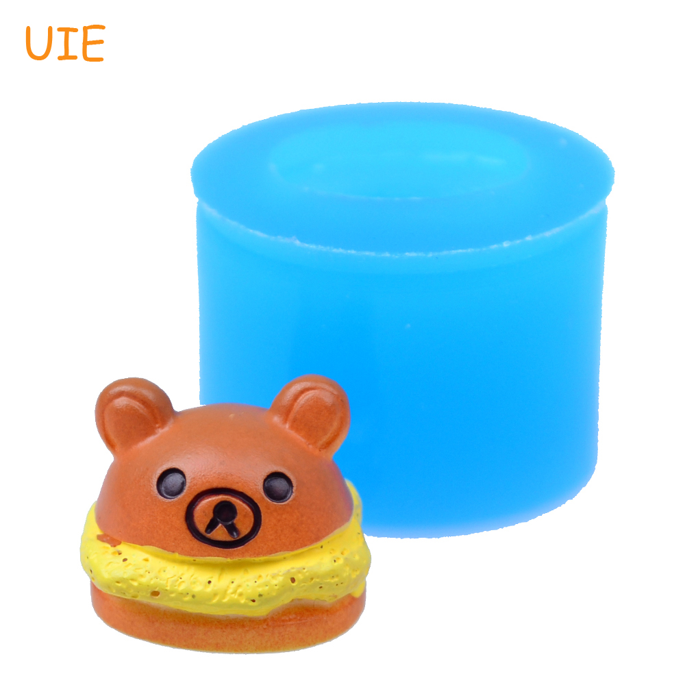 Cotton Candy Candle Mold Discounts Price Just Gyl094u 18.5mm 3d Bear Bread Flexible Silicone Mold Resin Polymer Clay Sugarcraft Cookie Biscuit