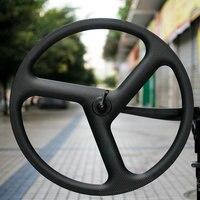 Hot Sale 700C Tri Spoke Carbon Wheelset 56mm Clincher Carbon Wheel For Road Bike Or Track