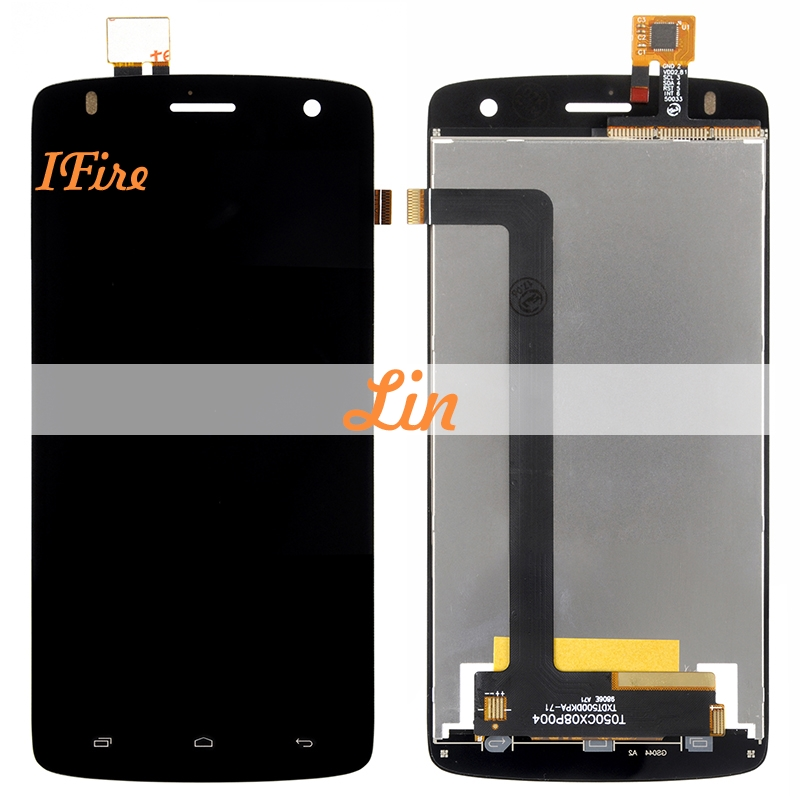 1pcs IFire 5.0 For Fly Era Life 6 IQ4503 LCD Display+Touch Screen Digitizer Assembly Black and White Color +Tools free shipping