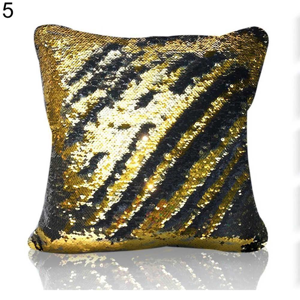 Цвет изменить обратимые блестки наволочки волшебный диван кровать бросок