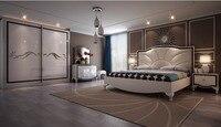 Furniture Bedroom Set New Design High Quality Low Price King Size Bed, Night Stand, Wardrobe, Dresser , Bedroom Set Furniture
