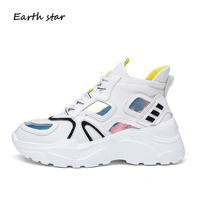 Casual White Shoes Women Fashion Brand Platform Sneakers Lady chaussure Real Leather Increased Female footware Cross-tied Shoes rizabina concise women sneakers lady white shoes female butterfly cross strap flats shoes embroidery women footwear size 36 40