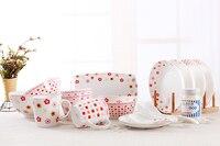 Ceramiczny zestaw obiadowy porcelany kostnej miska płyta scodella 24 sztuk prezent
