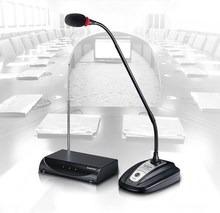 Pro MS-208W Conference & Speech Desk Gooseneck Meeting Mic Wireless Microphone System high end uhf 8x50 channel goose neck desk wireless conference microphones system for meeting room