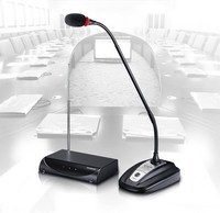 Pro MS 208W Conference & Speech Desk Gooseneck Meeting Mic Wireless Microphone System