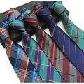 Высокого качества для мужчин новейших высокой плотности Британский клетчатую рубашку галстук ткань галстук 5.5 см тощий галстук бренд 2017 роскошный gravata тонкий l