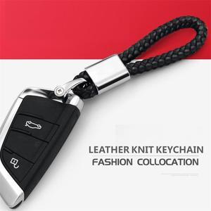 ميدالية مفاتيح معدنية سلسلة مفاتيح سيارة عليها الشعار مفتاح حلقة مفتاح حامل جلدية سلسلة مفاتيح لأودي