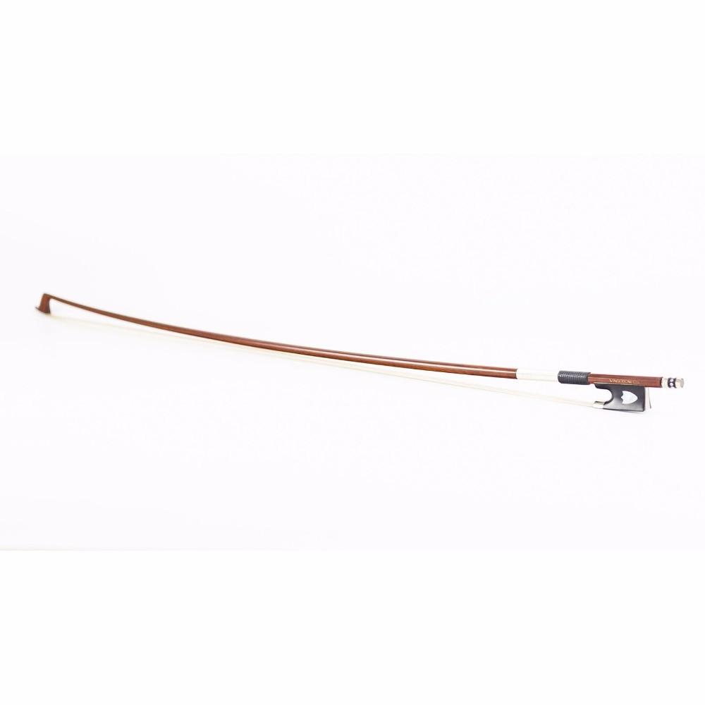 430V 4/4 Size VIOLIN BOW Pernambuco Stick Ebony Frog Nickel Silver - Երաժշտական գործիքներ - Լուսանկար 6