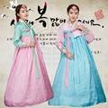 2016 зима азии одежда ханбок платье корейской традиционной одежды женщины ханбок танец платье полный рукава производительности костюм