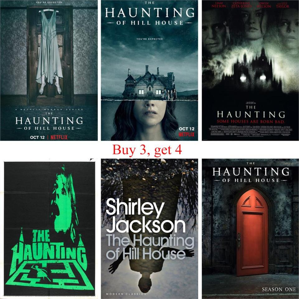 The Haunting Of Hill House Posters Movie Wall Stickers Glossy Paper Prints Clear Image Livingroom Bedroom Bar Decoration Wall Stickers Aliexpress