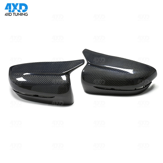 For BMW G32 G11 G12 Carbon Mirror Cover 5 Series G30 G38 dry Carbon Fiber Rear View caps Mirror Cover Gloss Black LHD 2017 2018+