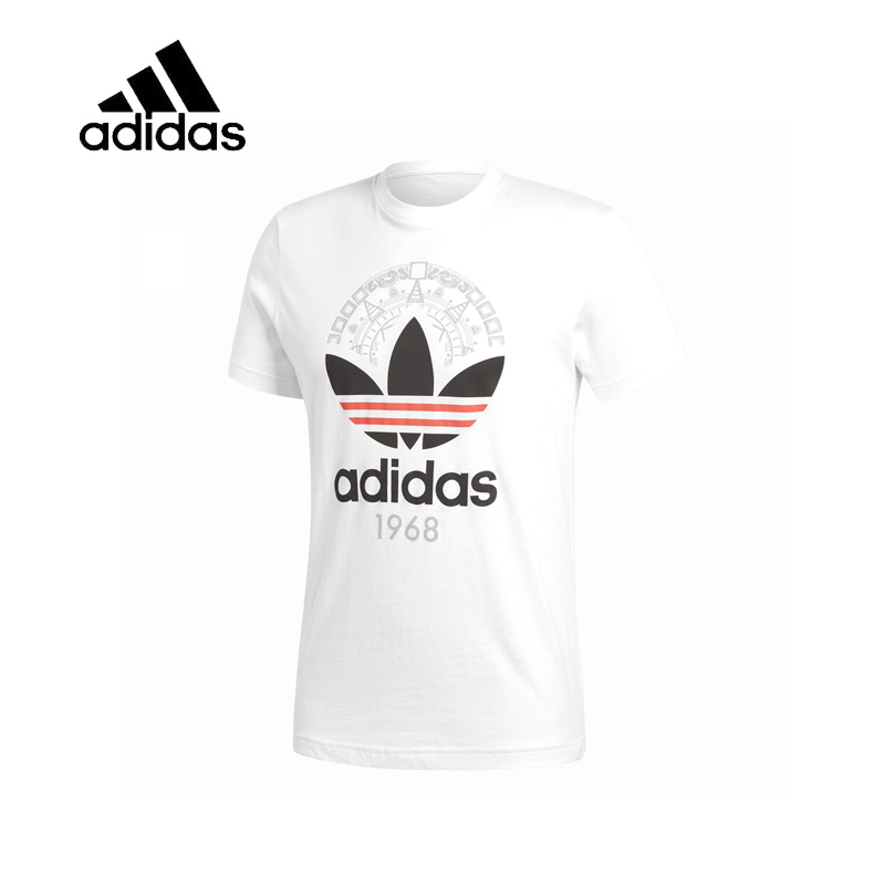Original New Arrival Authentic Adidas Trefoil Tee Mens O-neck T-shirts Logo Tops Short Sleeve Breathable Sportswear CD6827 original new arrival 2017 adidas neo label m sw tee men s t shirts short sleeve sportswear