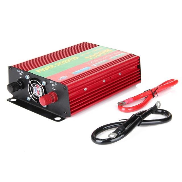 Pwer avaliado 1000 W Veículo Carro USB DC 12 V para AC 220 V Power Inverter Adaptador Conversor de Potência De Pico 2000 W Potência Total