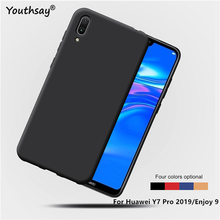 For Huawei Y7 Pro 2019 Case Matte TPU Soft Silicone Back Phone Cover Youthsay