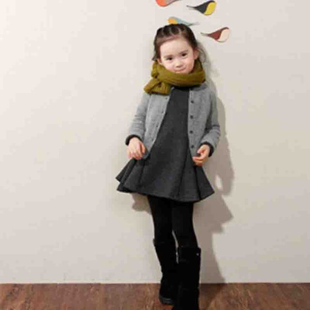 5dafa20b8 Fashion Children s Clothes Baby Girl Winter Dress Girls Fleece Thick ...