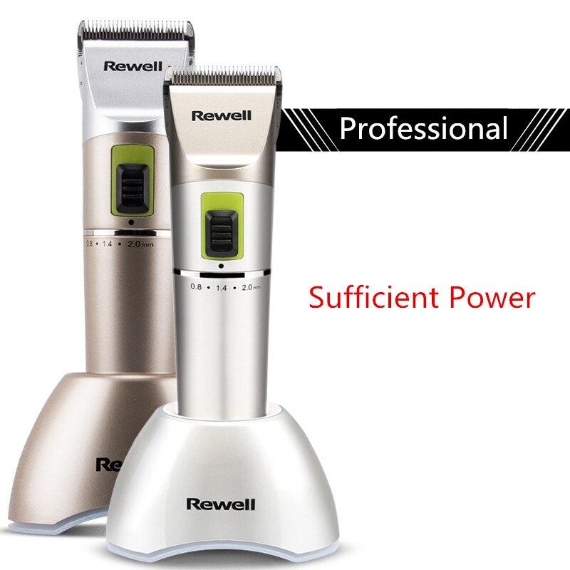 Tondeuse à cheveux professionnelle Rechargeable électrique tondeuse machine rasage soins des cheveux style lame en céramique réglage fin 100-240 V
