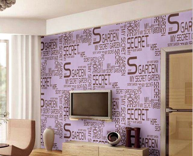 Fashion Style 4d English Letters Wallpaper S Wallpapers Vintage For Living Room Flower