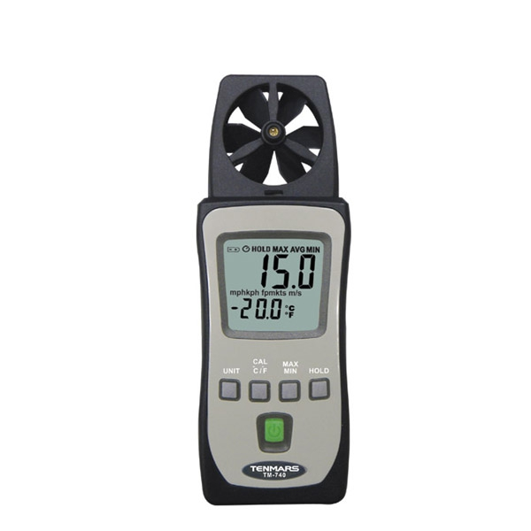 цена на Tenmars TM-740 is a Low Cost and Pocket Size Model, It Measures Air Speed and Temperature Meter, and Ideal for Spot Measurement