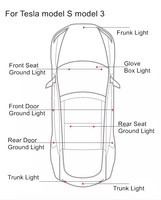 1 x 1 Pcs Ultra-bright WHITE LED (Clear Lens) High Output Interior Light Car Door Lamp Puddle Trunk Light for Tesla Model 3 S X (5)