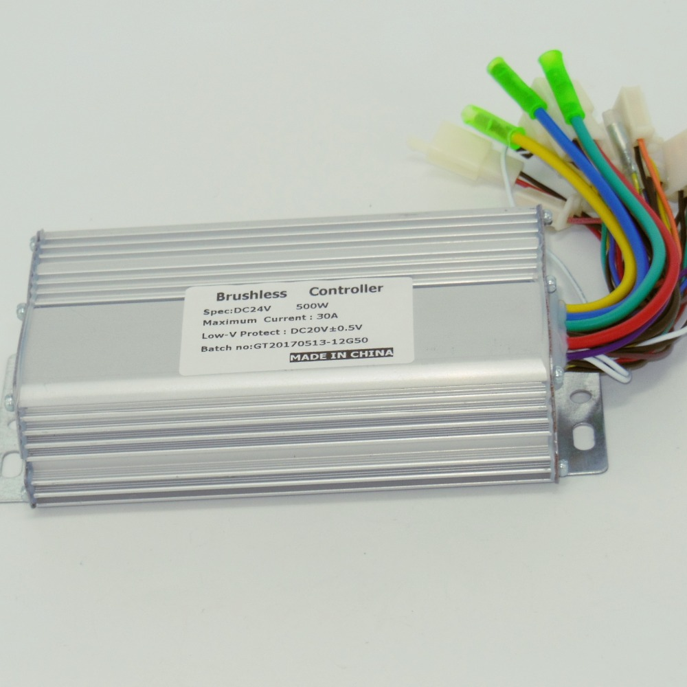 24V 500W Brushless DC Motor Controller 12 Mosfets Works With Both Sensored And Sensorless Brushless Motor
