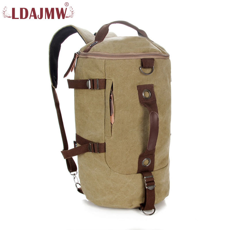 LDAJMW New Pattern Man And Woman Super Large Capacity Travel Bag Cylinder Shoulder Bag Fashion Canvas Diagonal Package wostu 2018 luxury brand 925 sterling silver heart love pendant necklaces for women with aaa zircon jewelry gift for lover cqn025