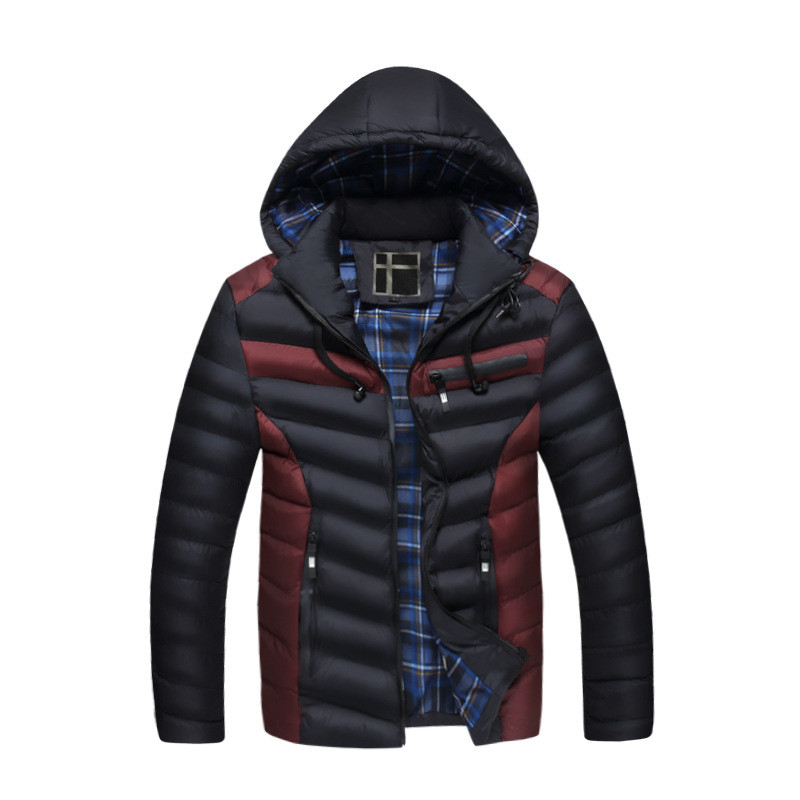 2017 Autumn Winter Men Warm Hat Detachable Coat Thick Hit Color Outwear Casual Wadded Jacket Male New Design Man Jackets YN10152 mulinsen latest lifestyle 2017 autumn winter men