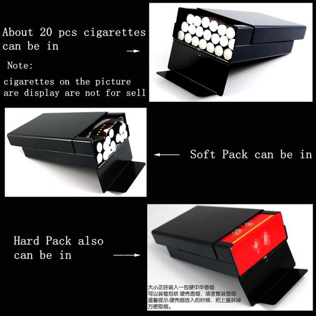 LAIFU LFYH41CAT male metal cigarette case cat design man portable cigarette smoke boxes laser designed forever cigarette case