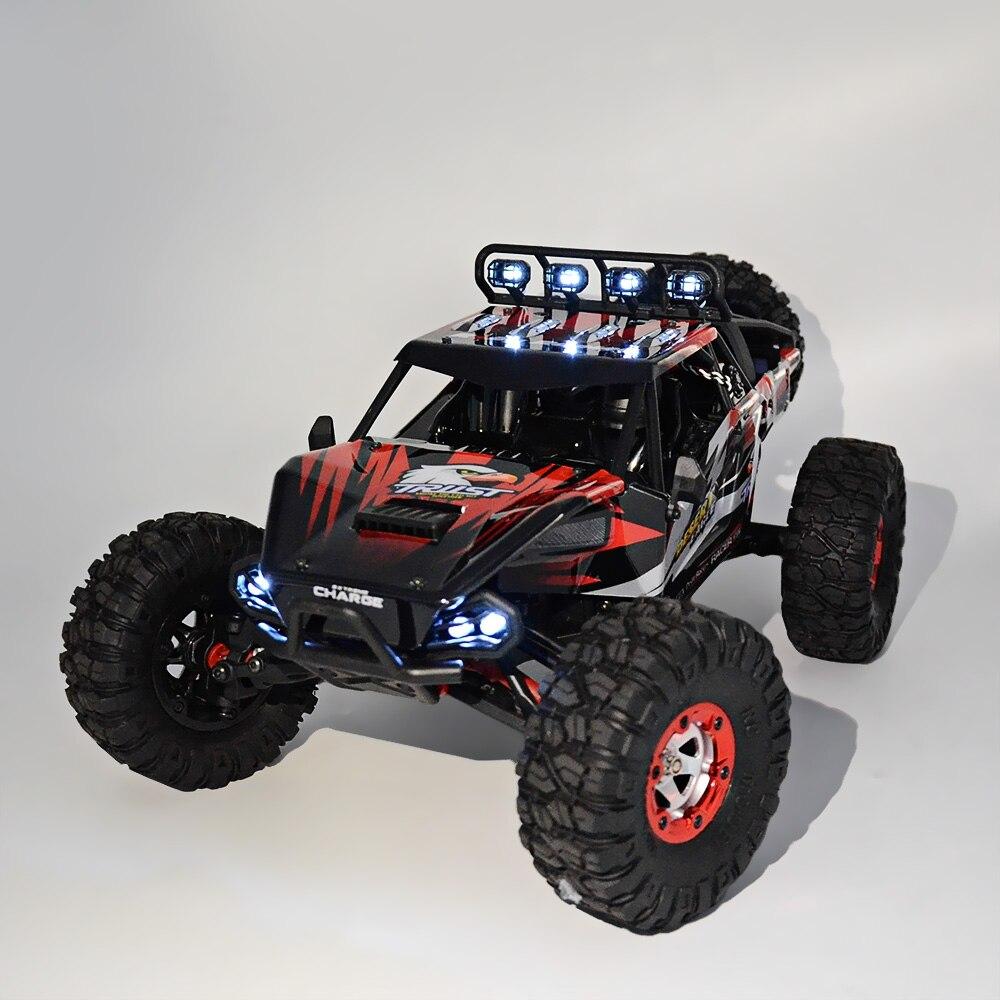 Venta caliente RC coche fuera de carretera desierto coche de Control remoto 1:12 RTR 2,4 GHz modelo de monstruo coche 4CH 4WD regalos de juguetes para vehículos con orugas de roca - 4