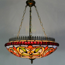 Classical high-grade anti-American country living room chandelier dining bedroom art deco cafe bar Tiffany lamp