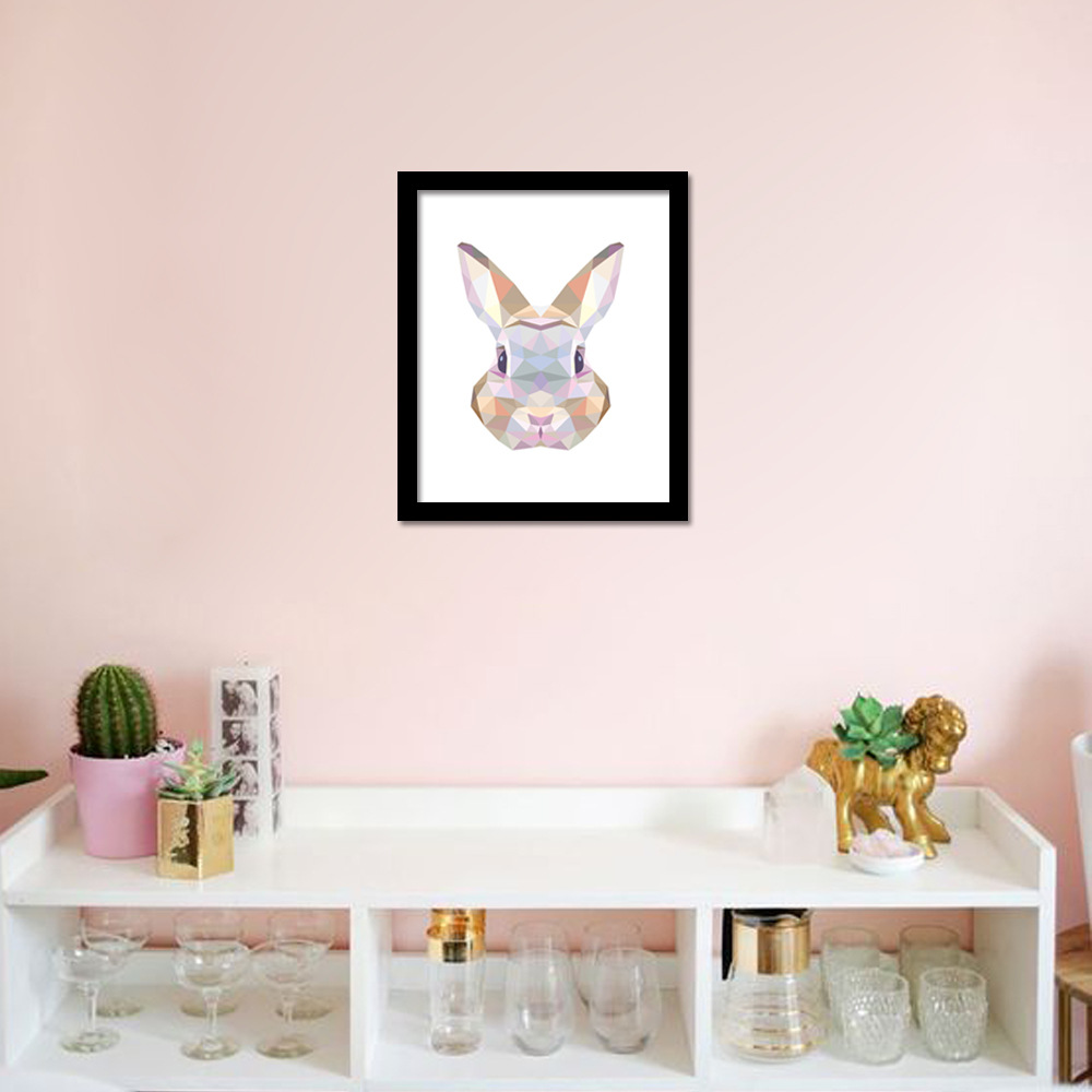 1 Pcs Hanging Decorations Canvas Art Print Painting Poster Rabbit Design Home Decor Living Room Kids