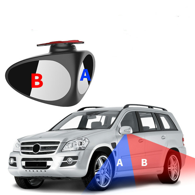 360 Deg Rotatable 2 Side Car Blind Spot Convex Mirror Automibile Exterior Rear View Parking Mirror Safety Accessories Reversing