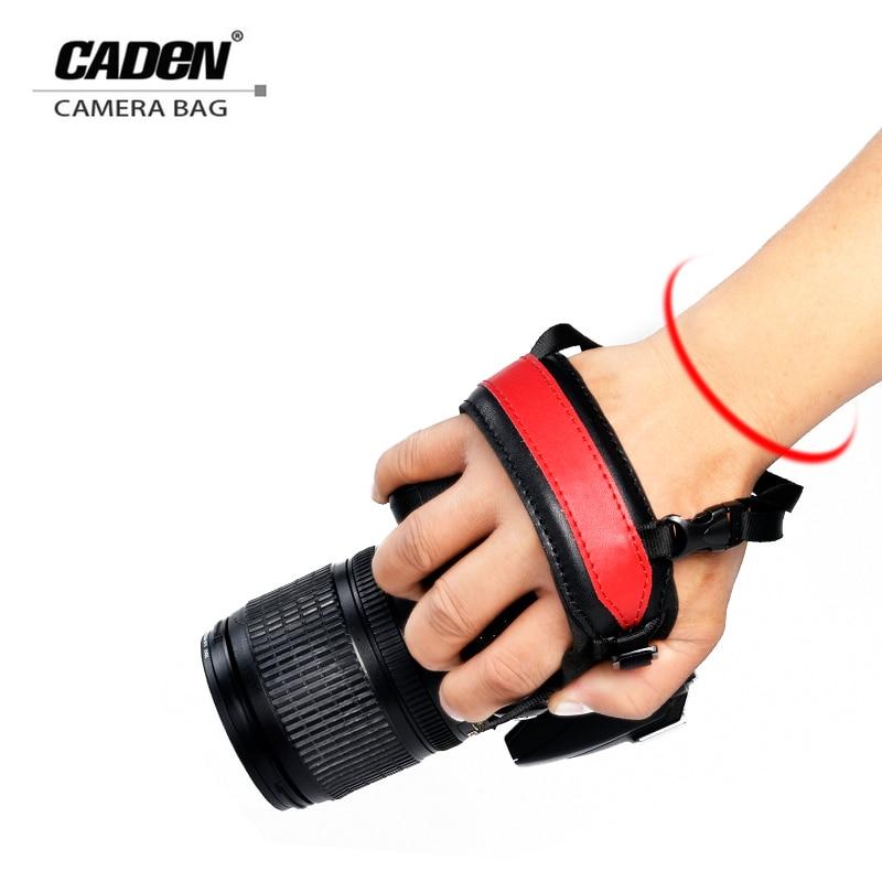 CADeN Camera Wrist Hand Strap Grip Black/Red Belt Camera Strap For DSLR Sony Canon Nikon Pentax Panasonic Accessory Parts H21