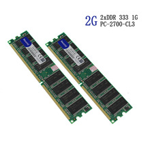 Hot sell DDR 333Mhz 2GB (2x1gb RAM) PC 2700 KVR333X64C3A / 1G Desktop Memory for All Motherboard Desktop Factory Direct