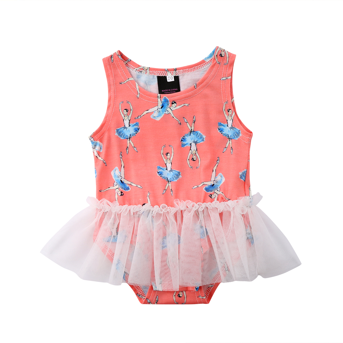 Newborn Baby Girl Princess Tutu Bodysuit Romper Dress Mini Skirt Clothes 0-18M