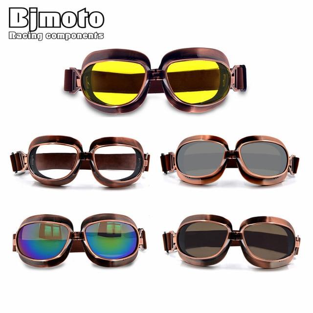 c318c24a72ae2 Alta Qualidade Óculos de Proteção Da Motocicleta Retro Voando Óculos de Moto  Scooter Capacete Aviador Óculos