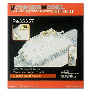 KNL HOBBY Voyager Model PE35357 World War II German railway armored train upgrade metal etching parts (dragon)