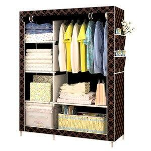 Image 4 - Modern basit dokunmamış kumaş dolap çok fonksiyonlu DIY montaj gardırop toz geçirmez dolap ev mobilya