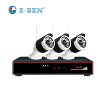 Z-BEN Plug and Play 4CH Wireless NVR Kit P2P 720P HD Outdoor IR Night Vision Security IP Camera WIFI CCTV System Support 4TB HDD