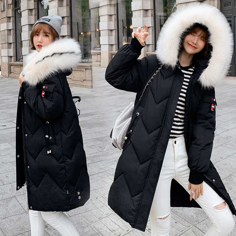 Fur   Coat   Hooded Winter   Down     Coat   Jacket Thick Warm Loose Casaco Feminino Abrigos Mujer Invierno Cotton padded Wadded Parkas 07