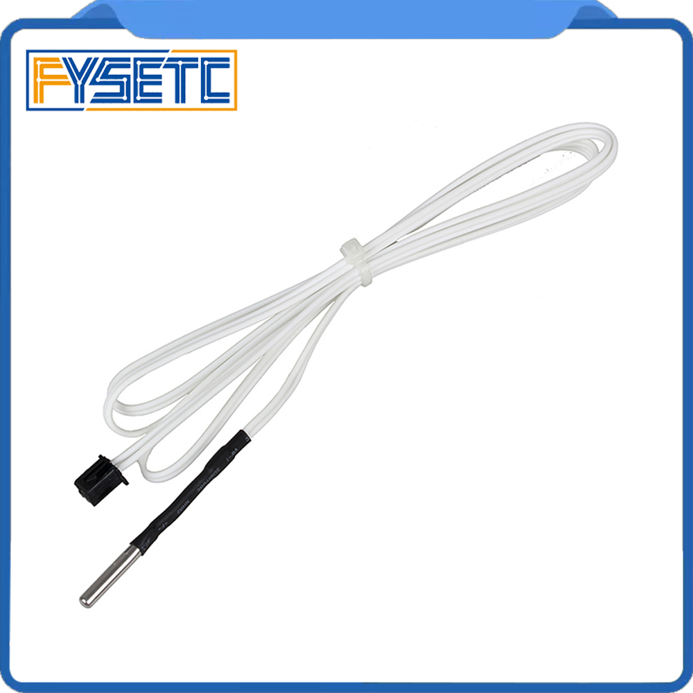 3D Printer Parts HT-NTC100K Thermistor Temperature Sensor For High Temperature Filament 350 Degrees B3950 For1M 2M
